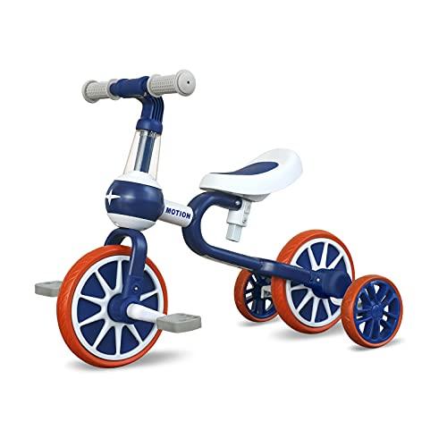 3 in 1 Kinder Laufrad ab 2 Jahr   Dreirad Spielzeug für 10-48 Monate Jungen und Mädchen   Baby Lauflernrad als Geschenk für Ersten Geburtstag Weihnachten (Blau)