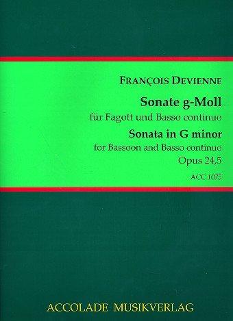 Sonate g-Moll op.24,5 : für Fagott und Bc