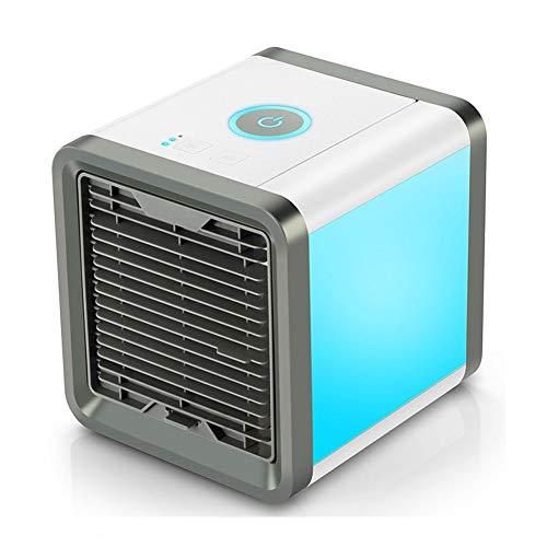 wuyi Ventilador Portátil de Aire Acondicionado, Ventiladors de Enfriamiento de Escritorio Personal USB 3 En 1 Mini Climatizadores evaporativos para Dormitorio...