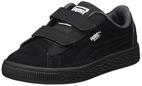 PUMA Unisex-Kinder JL Batman Basket V PS Sneaker, Schwarz (Black-Black), 35 EU
