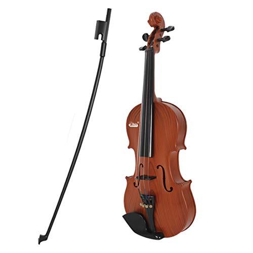 GODNECE Geige Kinder Spielzeug Violine Kinder ab 3 Jahre (Holzfarbe)