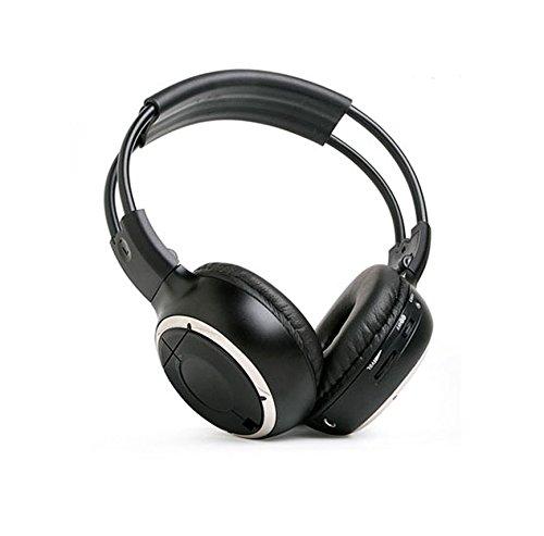 XCarLink 2 Canales-IR Casco Auriculares con Botón Silenciador, Control de Volumen, Entrada...