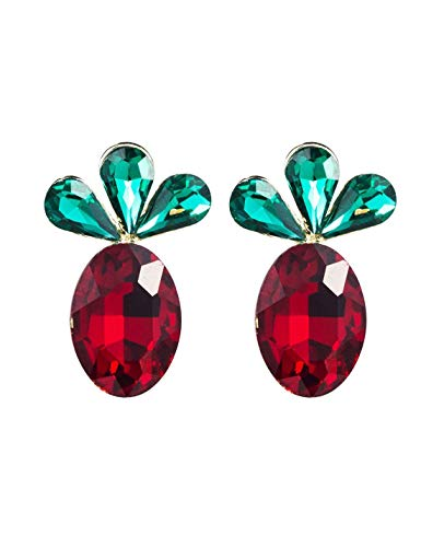 Pendientes para mujer Pendientes de rábano anti-alérgicos con aguja de plata 925, pendientes con incrustaciones de diamantes de imitación, regalo de cumpleaños de moda salvaje, joyas de oreja
