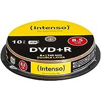 Intenso 4311142 - Pack de 10 DVD+R, 8x, 8.5 GB