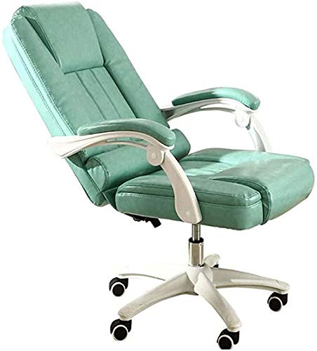 Lxlux High-Back Computer Desk Chair Ergonomic Office Chair with Flip-Up Arms and Comfy Headrest PU Leather