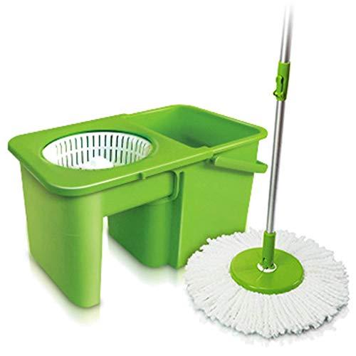 Magic Mop 360 Grados Spinning Mop Degree Giratorio Giratorio Magic Mop Bucket para Madera Dura Mármol Laminado