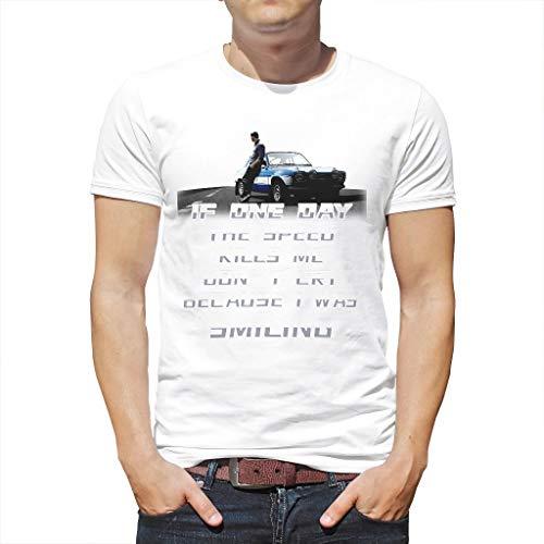 Wenn Mich eines Tages die Geschwindigkeit umbringt, weine Nicht, Weil ich lächelte Outdoor Nature Hiking Verschiedene Typen Grafik Logo T-Shirt für Vater Mutter Onkel Großvater White l