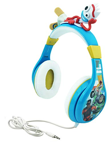 Kids Headphones for Kids Toy Story 4 Forky Adjustable Stereo Tangle-Free 3.5Mm Jack Wired Cord Over Ear Headset for Children Parental Volume Control Kid Friendly Safe Perfect for School Home Travel
