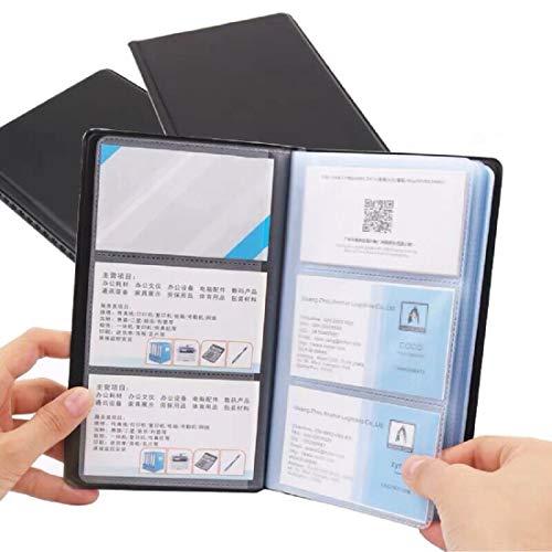 Duomi - Porta biglietti da visita per 300 carte, colore: Nero