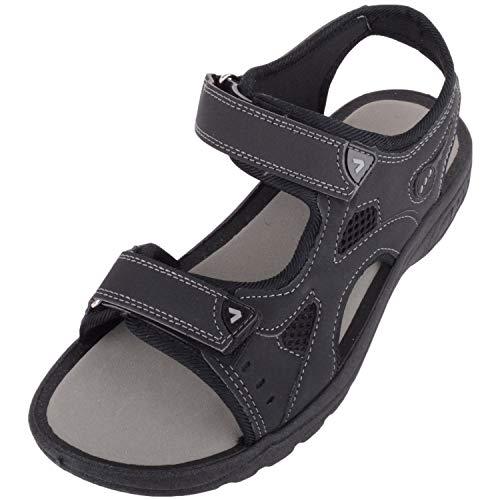 Absolute Footwear Mens Multi Strap Estate Escursionismo Trekking Spiaggia Sport Sandalo, Nero (Nero ), 42 2/3 EU