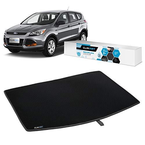 CLIM ART Alfombrilla protectora para maletero de Ford Escape 13 – 19 (tapa de carga en la posición más alta), alfombras, accesorios de coche, alfombrillas y alfombras shwartz