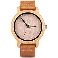 BOBO BIRD W-P09 Elegante reloj de hombre fabricado en madera y metal, color negro