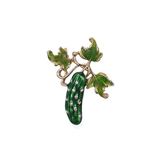 U/K PULABO Gurke Emaille Brosche Pin Gemüse Obst Brosche für Frauen Schal Kleid Schmuck Geschenk stilvoll und beliebt praktisch