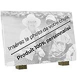 Le Coq Funéraire - Plaque Funéraire Personnalisée - 100% Personnalisable Photo et Textes - Plaque en Altuglass - Résistante aux Intempéries et Traitée Anti UV - Format Moyen 22,5 x 15 cm