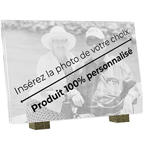 Le Coq Funéraire - Plaque Funéraire Personnalisée - 100% Personnalisable Photo et Textes - Plaque en Altuglass - Résistante aux Intempéries et Traitée Anti UV - Grand Format, Dimensions 30 x 20 cm