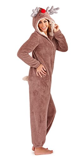 Lora Dora Luxury Womens Onesie Reindeer Large