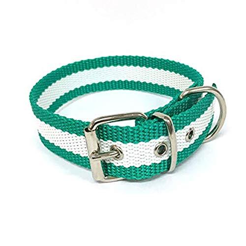 Global Collar de Perro Bandera de Andalucía | Collar de Perro de Nailon con Refuerzo en Piel | Collar 40 cms
