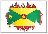 Flagge von Grenada Bürste Stil Kühlschrankmagnet