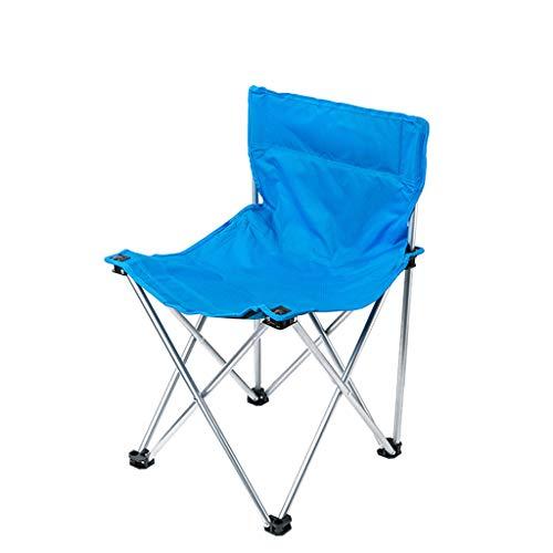Aajolg Chaises Pliantes extérieures de Camping de Chaise, Tube de Fer épaissi par Tissu de PVC d'Oxford de 600 * 300D avec la Chaise de Camp portative de Sac de Rangement,A