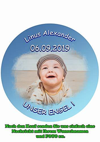 Tortenaufleger für Fototorte zum Kindergeburtstag mit Ihrem Foto, Tortenbild Fondant Ø 20cm / 5053