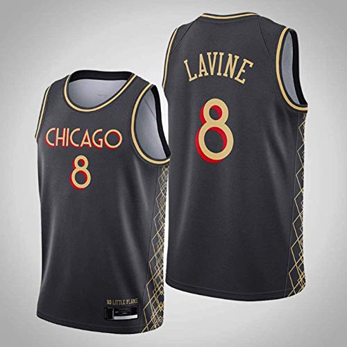 TGSCX NBA Chicago Bull 8# Zach LaVine Men's Basketball Jersey Cómodo/Ligero/Transpirable Malla Bordada Swing Swing Swing Sweatshirt,4,S
