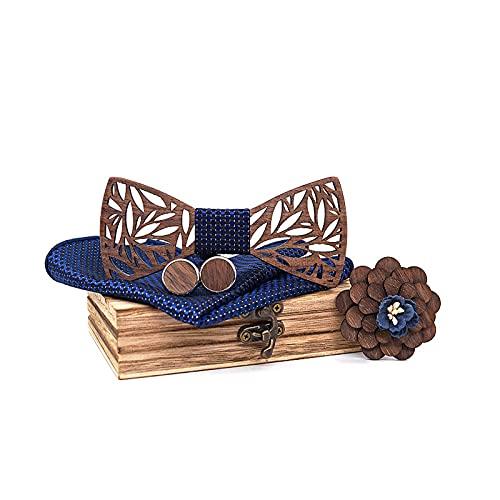 Mr.Van pajarita de madera hecha a mano, tamaño ajustable, estilo clásico, caja...