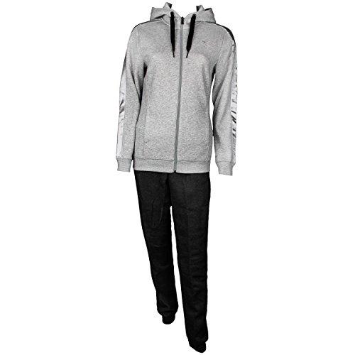 PUMA Damen Trainingsanzug Fun Sweat Suit W, Light Gray Heather/Dark Gray Heather, L