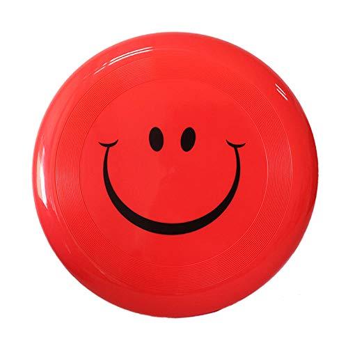 Plastic frisbee children\'s ultimate frisbee children\'s frisbee hard frisbee hard frisbee-Red smiley face (23CM)