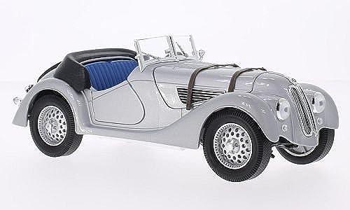 BMW 328, silber, 1940, Modellauto, Fertigmodell, WeißBox 1 18