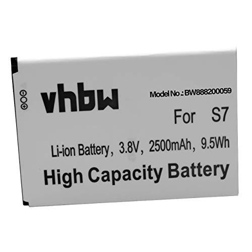 vhbw Batería Recargable Compatible con Ulefone S7 móvil, Smartphone (2500 mAh, 3,8 V, Li-Ion)