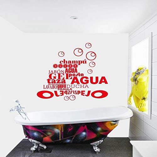 Spanje Frankrijk Quote Bubble Badkamer Sticker Vinyl Muursticker Muurschildering Muurschildering Residentie Decoratieve Huis Decor 50 * 54cm