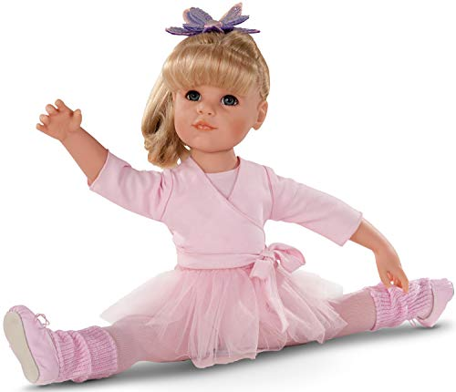 Götz 1359067 Hannah beim Ballett Puppe - 50 cm große Ballerina Stehpuppe, Blonde Lange Haare, blauen Augen - 14-teiliges Set