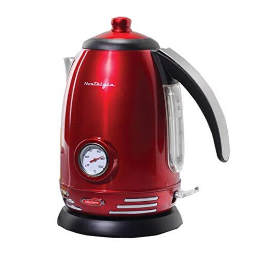 Simeo fD400 1.7L 2200 W Rouge – Bouilloire Electrique 2200 W, courant alternatif, 220 – 240, 50/60, 220 mm, 180 mm