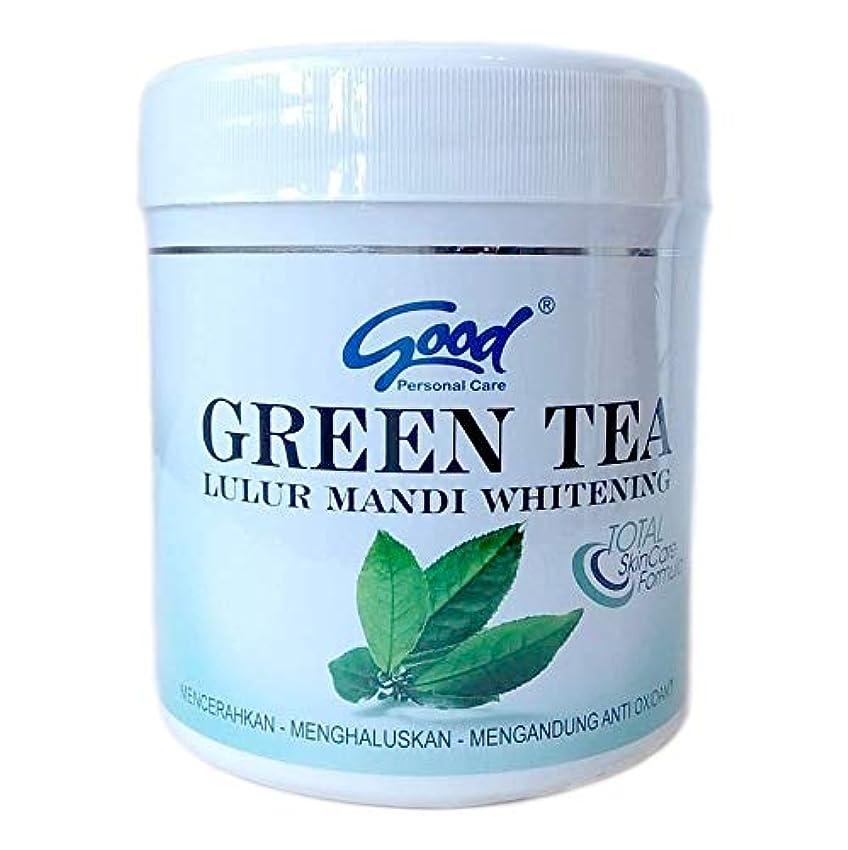 宇宙船スタッフ不幸good グッド Lulur Mandi Whitening ルルール マンディ ホワイトニング GREEN TEA グリーンティー 1kg / マンディルルール ボディピーリング ボディトリートメント [海外直送品]