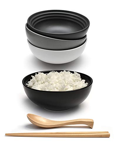 Cucchiaio in ceramica Ciotola bassa in ceramica tonalità grigio