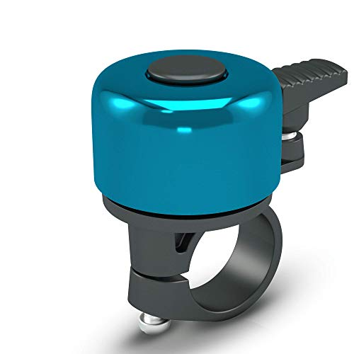 Racetex Fahrradklingel Mountainbike - Blau - Klingel Fahrrad aus Robustem und Widerstandsfähigem Edelstahl - Fahrrad Klingel mit verbesserte Passform - Ideal als Rennrad Klingel oder Fahrradglocke