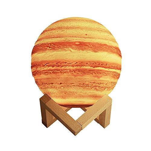 Redlemon Lámpara de Júpiter 3D, Control Táctil e Intensidad Regulable, 3 Colores de LEDs, Batería Recargable de Larga Duración....