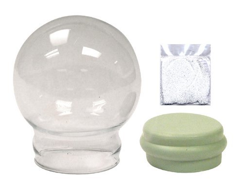 """National Artcraft Clear Glass Water Globe with Rubber Seal and Snow Flakes, 2-1/2"""" Dia. (Pkg/2)"""