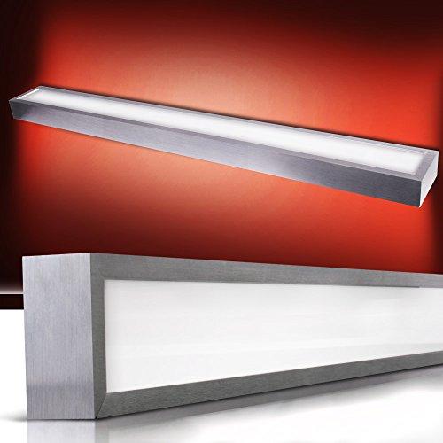 Jago Lampada da parete bagno moderna in vetro satinato e alluminio spazzolato classe A++ fino E