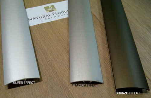 DURAL SILVER ALUMINIUM EFFECT DOOR BAR 0.9mtr (COMES IN ANODIZED BRONZE & TITANIUM TOO) by DURAL