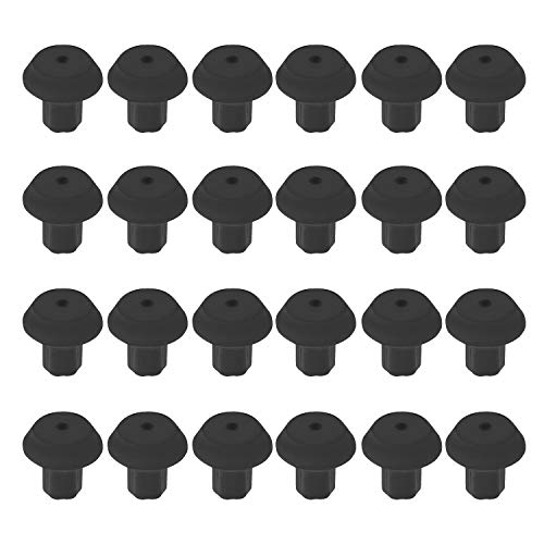 Range Grate Rubber Feet or Grate Bumper - Replacement for Viking Range - Equivalent to PD040035 Foot - Works with Many Gas Stove Burner Grates (24-Pack)