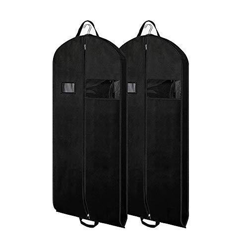 HSDCK 2 stuks ademende heuptasjes met doorzichtige papieren houder en ID-kaart voor mannen, pakken, mantels, kostuums