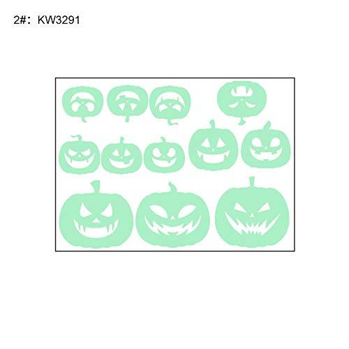 Momangel Halloween-Dekoration, leuchtende Kürbis-Geister-Fledermaus-Muster, DIY Wand-Aufkleber, Fenster-Aufkleber, Halloween, Tür-Dekoration 2#