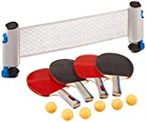 RTMAXCO Ping Pong Paddle, Ping Pong Paddles with Carry. CaseBest 4 Pack Professional Table Tennis Racket Set, 6 Game Balls,Table Tennis Set with Retractable Table Tennis net.
