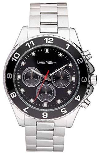 Louis villiers Reloj para Mujer Analógico de Cuarzo con Brazalete de Acero Inoxidable LVAG5877-8