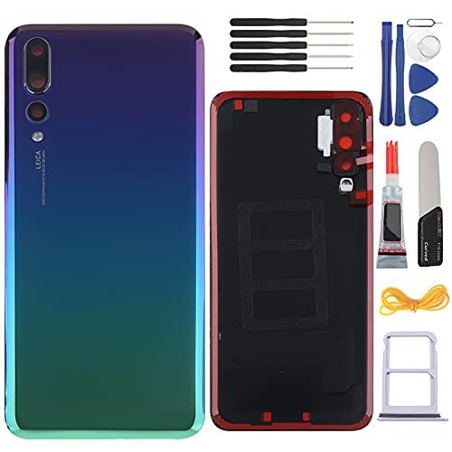 YHX-OU 6.1'' Copribatteria Adatto per Huawei P20 PRO Sostituzione della Cover Posteriore + Strumento di Installazione (Aurora Blue)