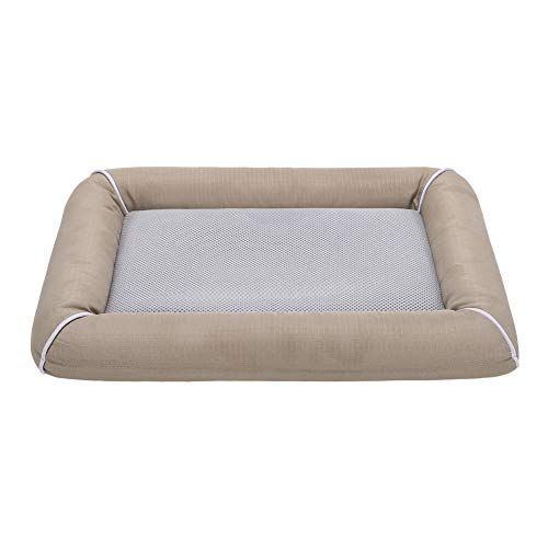EMME Dog Bed for Crate Pet Pads for Cat, Puppy and Large Dogs Removable Cover Washable Breathable and Tear Resistant Quick Dry Perfect for Indoor and Outdoor (Khaki, XX-Large)