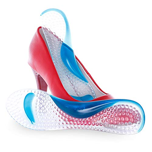 Einlagen für High Heels Schuhe Soft Gel 3/4 Einlegesohlen Pumps Gel Kissen Relief für Fersensporn Schuheinlagen fuer Damen Schuhe Geleinlagen Selbstklebend Universall Große