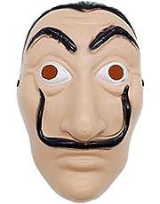 La Casa De Papel Face Mask Salvador Dali Cosplay Movie Mask Realistic Party Mask