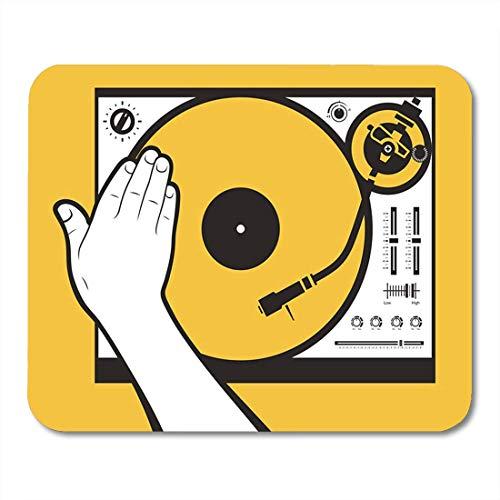 Mauspads Record Plattenspieler Hand Scratching Vinyl Needle Scratch Rave Remix Mauspad für Notebooks, Desktop-Computer Matten Büromaterial